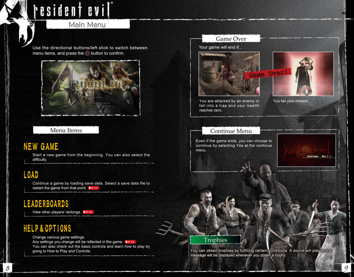 RESIDENT EVIL 4 OFFICIAL WEB MANUAL