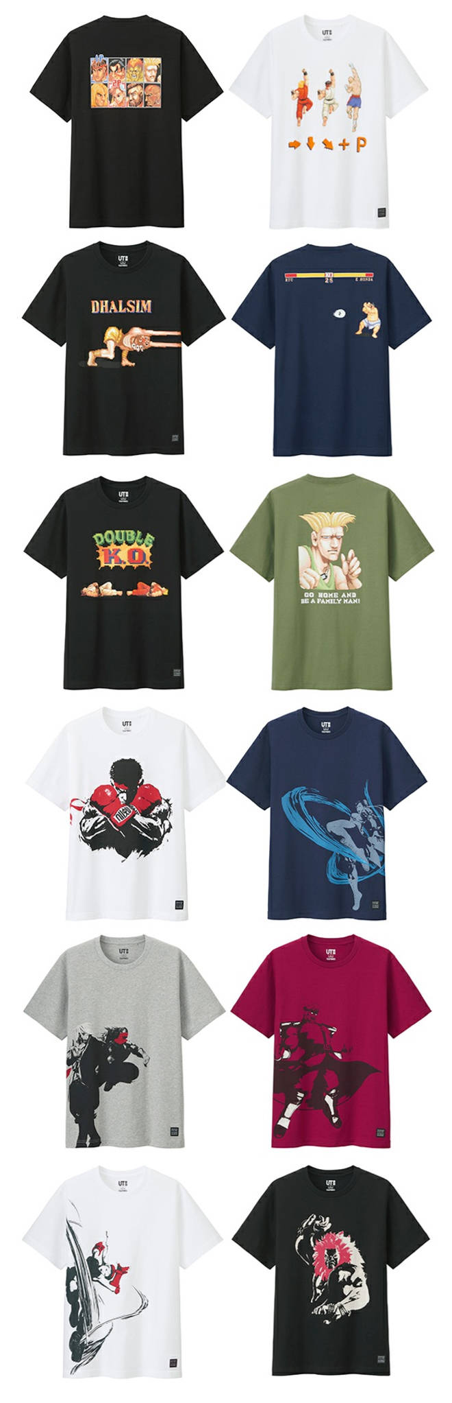 484307089 All items are newly designed featuring Street Fighter characters' iconic  special moves and poses.
