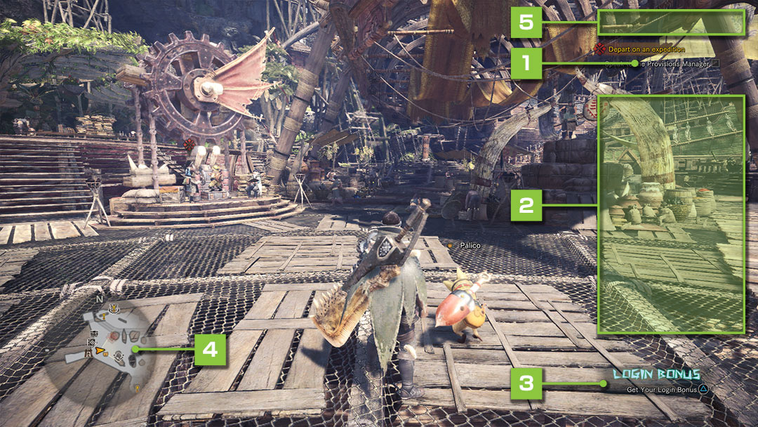 MONSTER HUNTER: WORLD Official Web Manual | The Game Screen